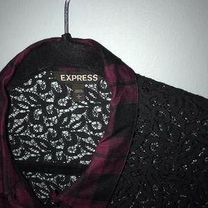 Express Tops - EXPRESS plaid top
